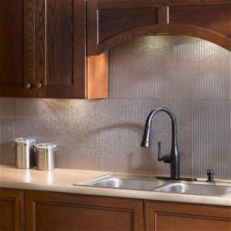 backsplash panels for kitchens fasade 24 in x 18 in rib pvc decorative backsplash panel