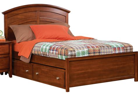 full beds with trundle santa cruz cherry 4 pc full panel bed w trundle trundle