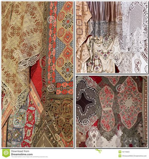 Handcrafted Textiles - handmade textile patterns stock photos image 16770923