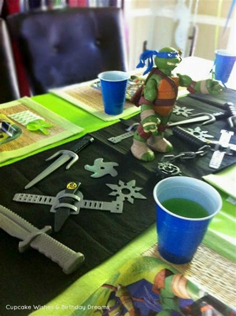 Turtle Themed Birthday Supplies by 5 Awesome Mutant Turtles Tmnt