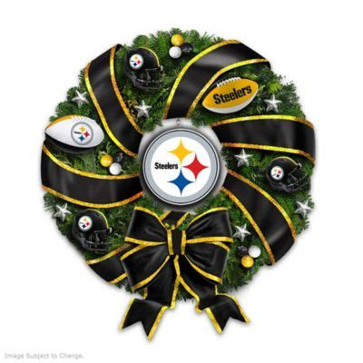 nfl licensed pittsburgh steelers christmas wreath