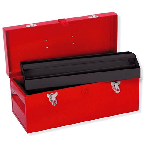 heavy duty metal tool box 17 in x 7 1 2 in x 7 in