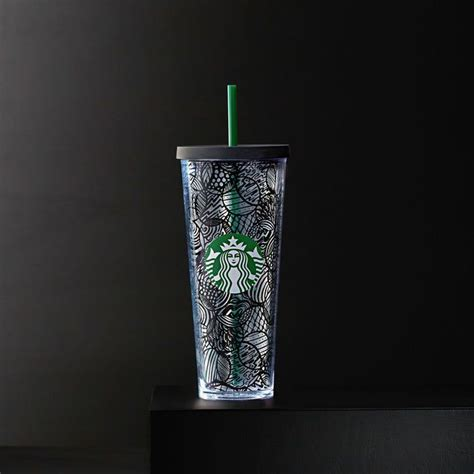 Starbucks Tumbler Straw Black A Sturdy Venti Size Clear Plastic Cold Cup With