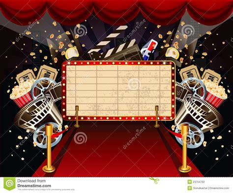 movie themes pictures illustration on movie theme stock vector illustration