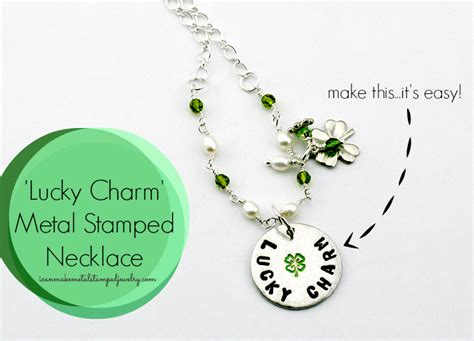 diy lucky charm metal sted necklace i can make metal