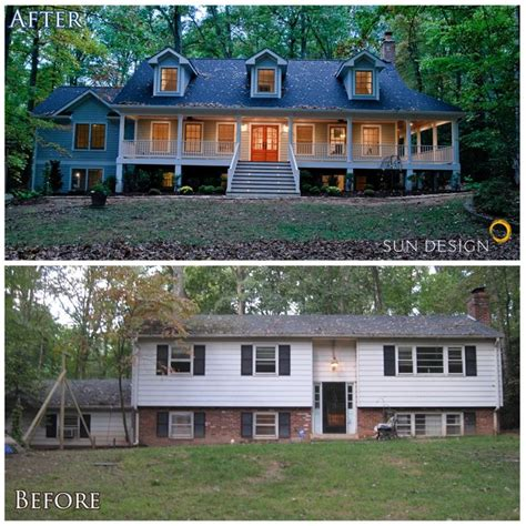 this home was transformed from a split foyer into a