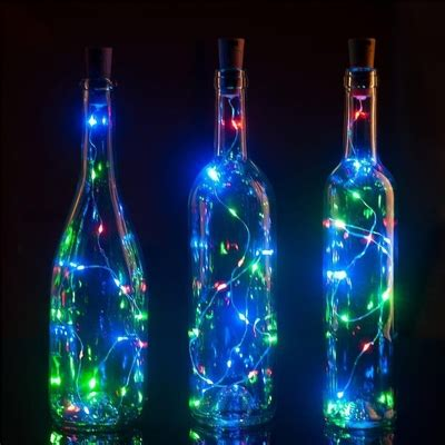 bottle led lights 3 pack 3 ft 20 bright rgb led battery operated