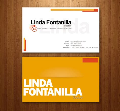design name card name card design for linda fontanilla by sigitarrin