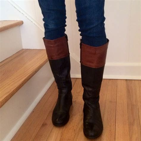 two toned boots two tone black brown boots 7 from s