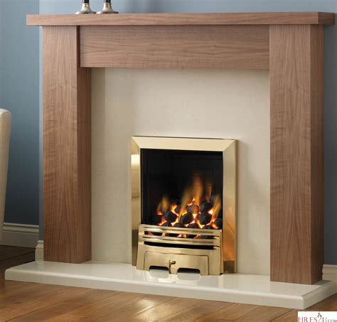 Gas Fireplaces And Surrounds by Pureglow Stanford Walnut And Gas Fireplace Gas