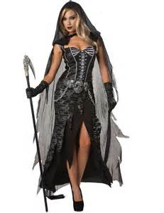 Adult lady grim reaper costume simply fancy dress