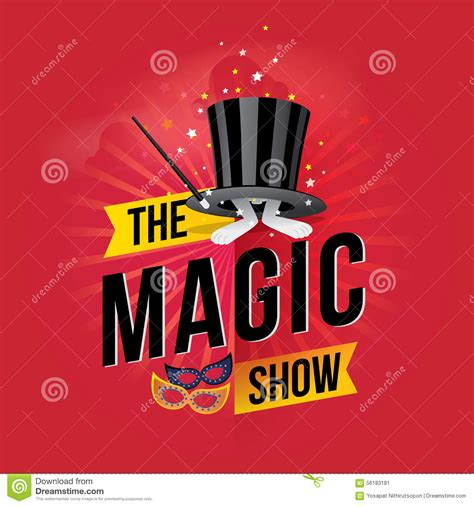 scow images the magic show stock vector image 56183181