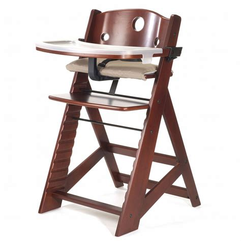 Keekaroo High Chair Reviews by Keekaroo Height Right High Chair With Tray Mahogany Free Shipping