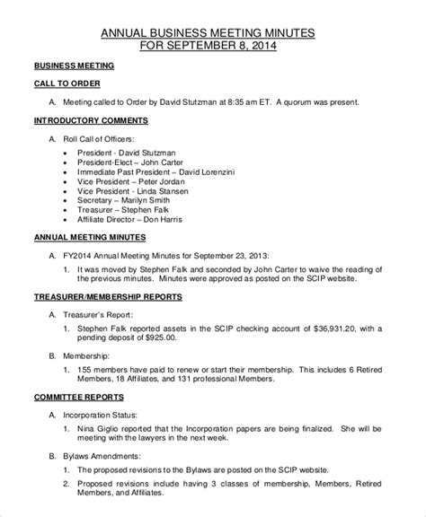 corporate annual minutes template bylaws template executive employment agreement template