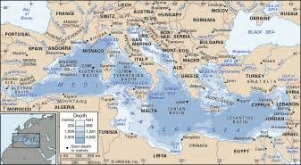 Mediterranean Sea On World Map by Mediterranean Sea Map Images Amp Pictures Becuo