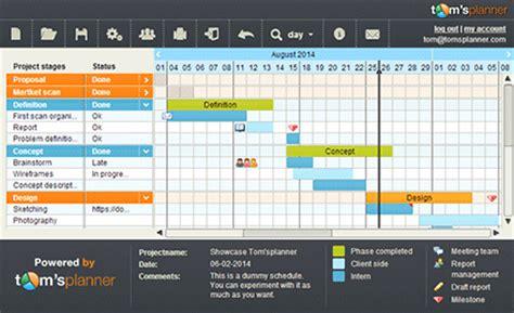 faire un diagramme de gantt en ligne toms planner outil de gestion de projets collaboratif