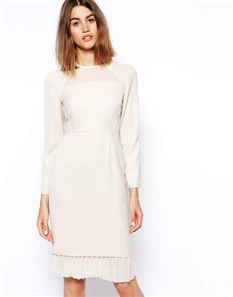 panel sleeve dress asos sleeve panel shift dress in lyst