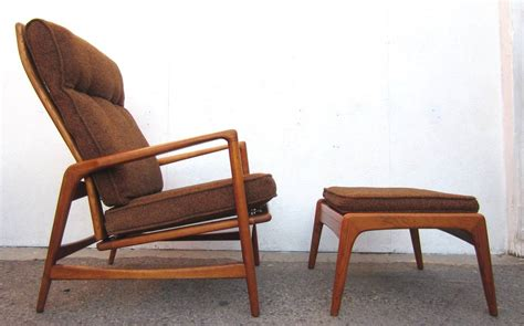 Modern Lounge Chair And Ottoman 1950 Mid Century Modern Lounge Chair And Ottoman Ib Kofod Larsen At 1stdibs