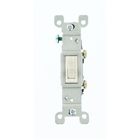 leviton 15 single pole toggle switch white r52 01451