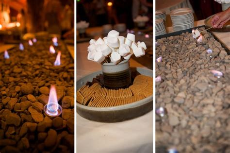 smores at wedding reception smores bar for the reception i like how theres just a