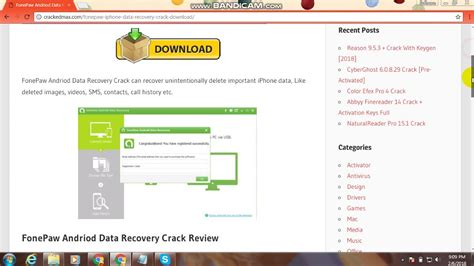 FonePaw Android Data Recovery With Serial Key Full Free Download   YouTube