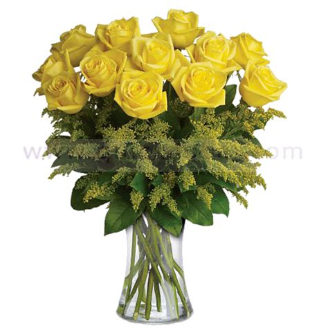 Yellow Roses In Vase by Vase Of Yellow Roses