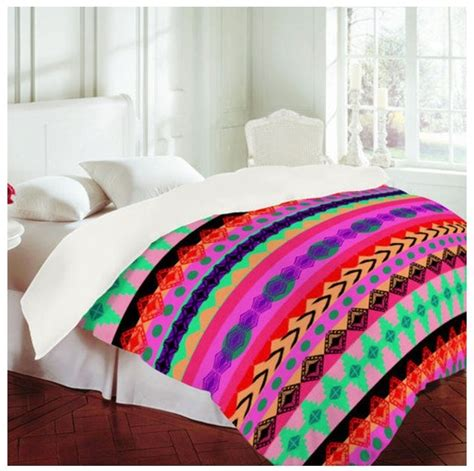 kawaii comforter cute aztec bedding favorite places spaces pinterest