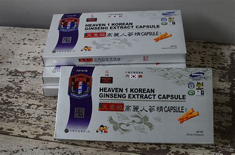 Gingseng Platinum อาหารและส ขภาพ heaven 1 korean ginseng extract capsule