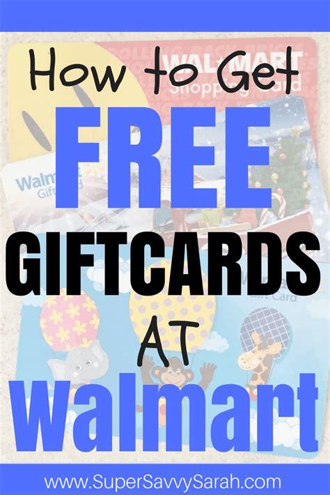 How To Get Free Money On Walmart Gift Card - how to get free giftcards at walmart super savvy sarah