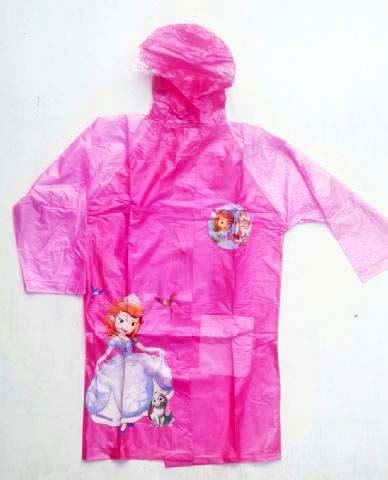Jas Hujan Ponco Frozen Jas Terusan Frozen Jas Hujan Remaja Hk perlengkapan hujan