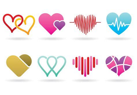 heart pattern logo heart logos download free vector art stock graphics