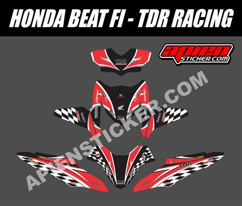 Sticker Decal Striping Dekal Stiker Klx 149 Glossy striping motor beat fi tdr racing apien sticker