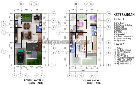 desain rumah ukuran 8x15 1 lantai desain rumah minimalis 2 lantai di lahan 8 x 15 m2