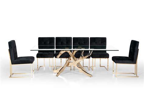 modern gold table l modrest legend modern glass gold dining table modern