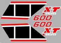 Yamaha Xt 600 43f Aufkleber by Aufkleber Xt