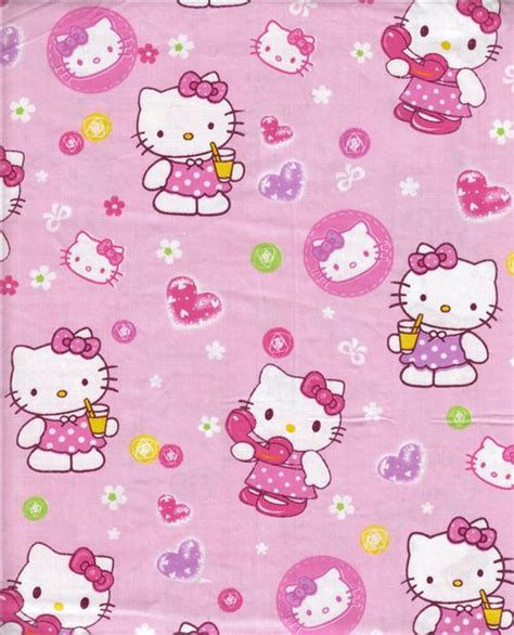 Hello Wallpaper Sticker Hello 5m kawaii fabric with hello and flowers 0 5m