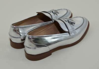 j crew silver loafers new j crew 298 biella metallic tassel loafers 10 5
