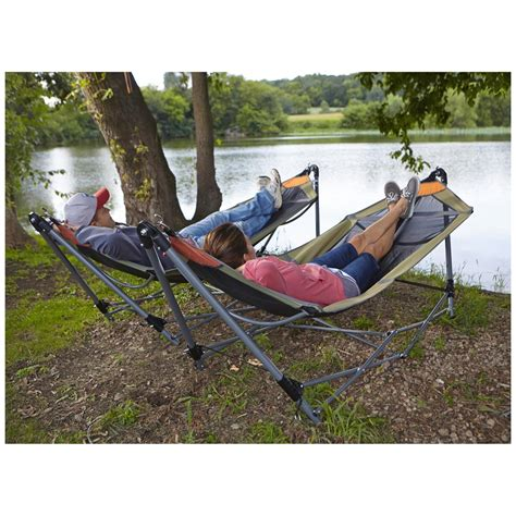 Hamac Portable by Guide Gear Portable Folding Hammock 172580 Hammocks At