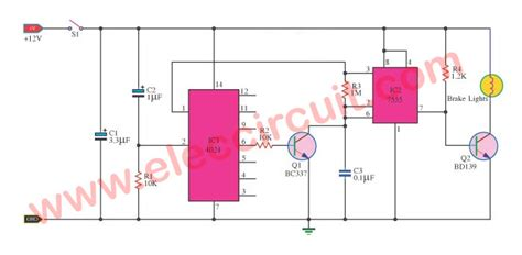 brake light flasher schematic brakelight flasher brake