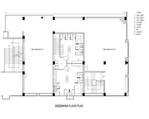 gymnasium floor plan mezanine design american hwy