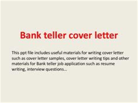 bank teller cover letter sle cover letter for bank teller position sle 1087