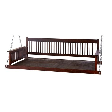 home depot patio swings plantation 2 person daybed wooden porch patio swing