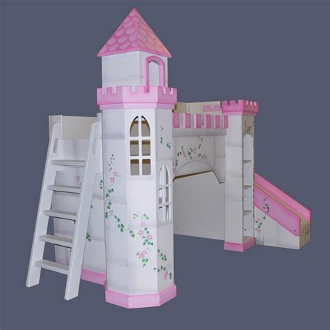 Princess Castle Bunk Bed With Slide Castle Bunk Bed With Slide I D To Build This For To Get Out Of Bed You Slide