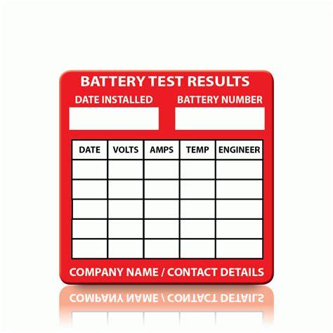Testi Customer buy custom battery test labels pat labels