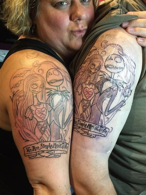 our matching tattoos of jack and sally artist david g yelp