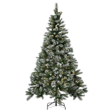 prelit snow tipped christmas tree 7ft christmas trees