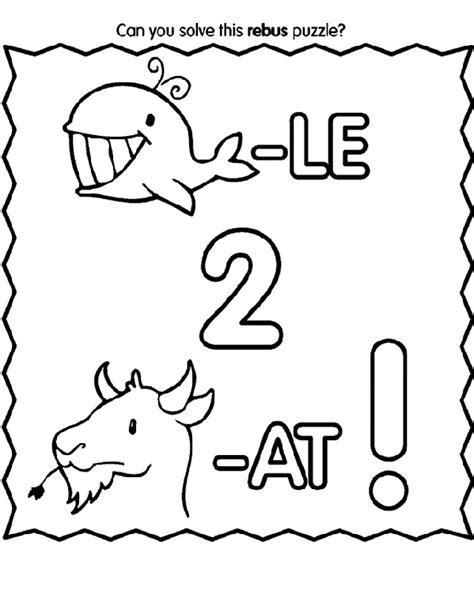rebus message 2 coloring page crayola com