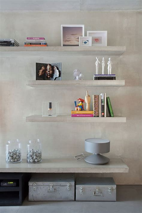 Concrete Floating Shelf by Chic D 233 Cor And Concrete Walls Welcome You At Snazzy