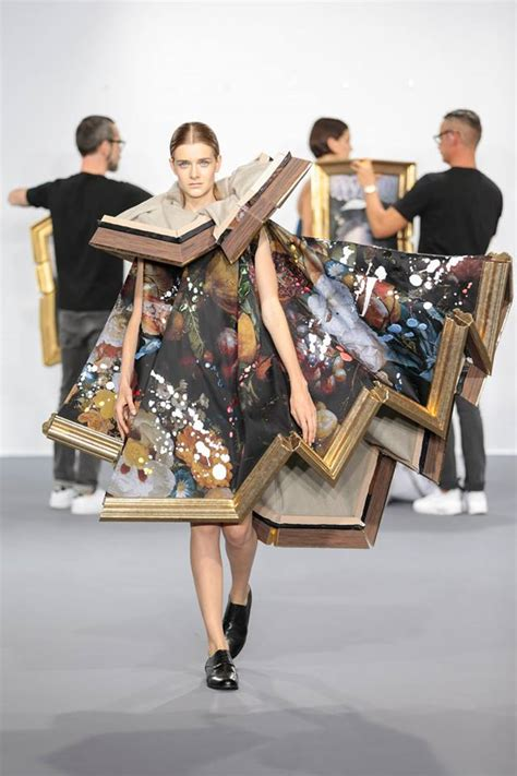 The Mini Debate Couture In The City Fashion by Framed Paintings Are Transformed Into Wearable During