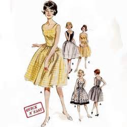 Vintage 1960 s women s clothing sewing pattern fitted bodice dress